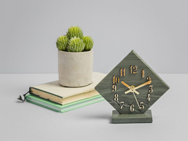 Cropped Diamond Clock - Slate Clocks - Coniston Stonecrafts