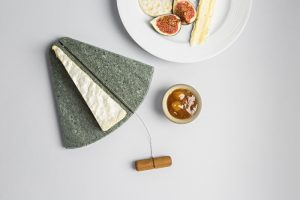 Slate Curved Cheeseboard with Wire and Wooden Toggle - Coniston Stonecrafts