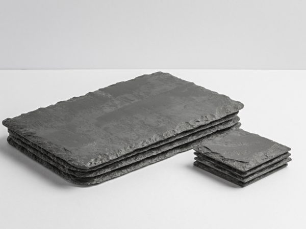 Lakeland Slate Placemats & Coasters (Set of 4) - Coniston Stonecrafts