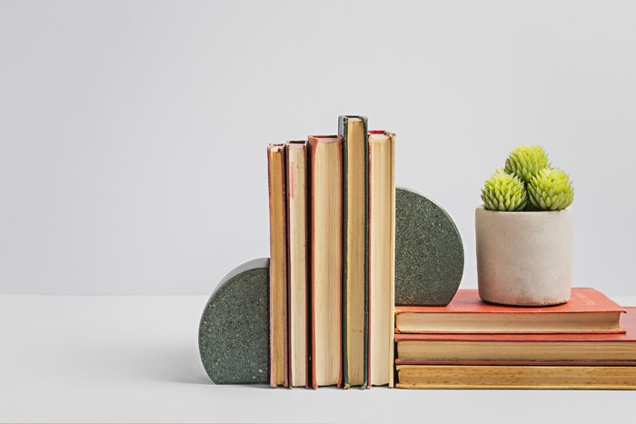 Round Bookends - Slate Bookends - Coniston Stonecrafts