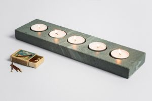 Multiple Tea Light Holder - Slate Tea Light Holders - Coniston Stonecrafts