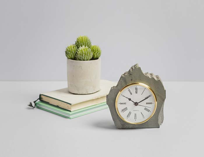 Small Heavy Rustic Clock - Slate Clocks - Coniston Stonecrafts