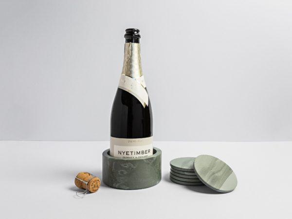 Slate Wine Cooler & Coasters - Coniston Stonecrafts