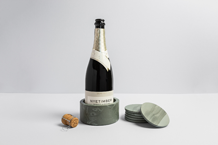 Slate Wine Cooler & Coasters - Coniston Stonecrafts