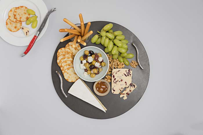 Lakeland Round Slate Cheeseboard with Handles - Coniston Stonecrafts