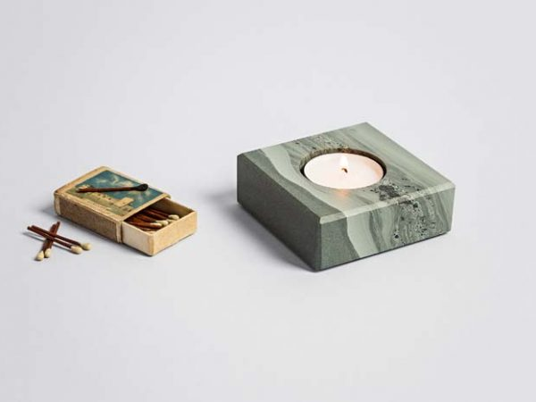 Slate Single Tea Light Holder (Square) - Coniston Stonecrafts