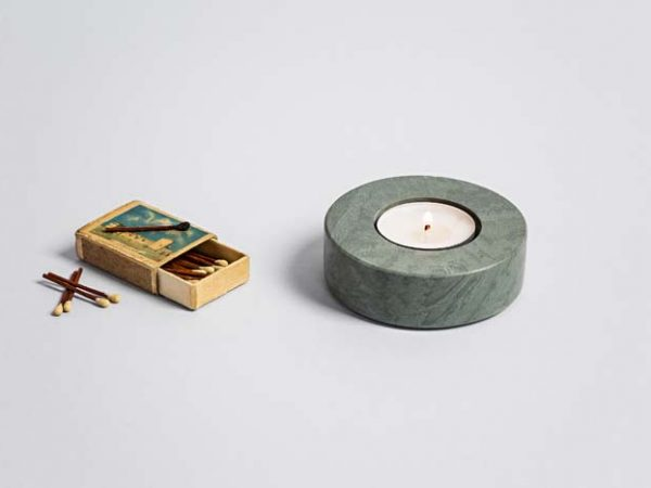 Single Tea Light Holder (Round) - Coniston Stonecrafts