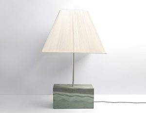 Rectangular Polished Slate Lamp - Coniston Stonecrafts