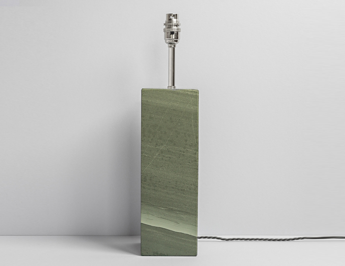 Tall Rectangular Polished Slate Lamp - Coniston Stonecrafts