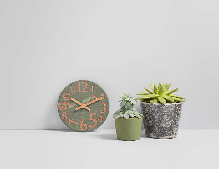 Small Contemporary Kitchen Clock - Coniston Stonecrafts