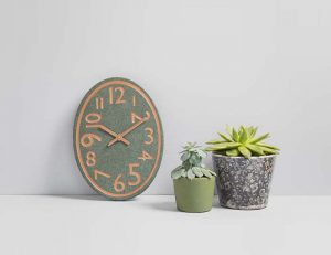Oval Contemporary Kitchen Clock - Coniston Stonecrafts